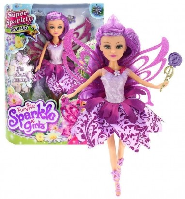 Boneca Sparkle Girlz Fada Das Flores Lili com Acessórios DTC 4804