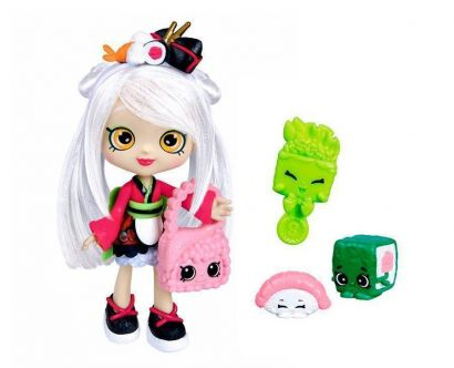 Boneca Shopkins Shoppies Sara Sushi + 2 Shopkins Exclusivos DTC 3735