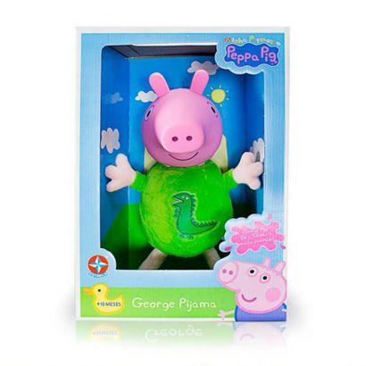 Boneco De Pelucia George com Cabeça de Vinil e Pijama - Peppa Pig Estrela