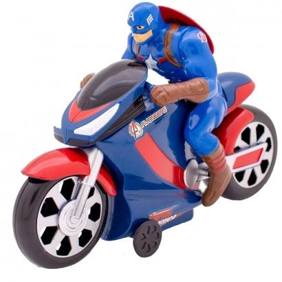 Boneco Herois Vingadores Marvel Com Moto de Fricção Brinquedo Infantil Criança +3 Anos Avengers Toyng