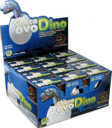 Display Choca Ovo Dino Com 12 Unidades Dtc 1557