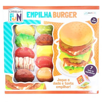 Brinquedo Creative Fun Empilha Burguer Multikids Br646