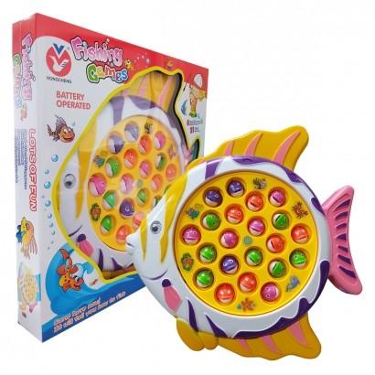 Brinquedo Infantil Jogo de Pescaria Criança Motorizado Pesca Com 21 Peixes Polibrinq