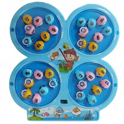 Brinquedo Infantil Jogo de Pescaria Criança Motorizado Pesca Com 32 Peixes Polibrinq