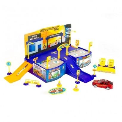 Brinquedo Infantil Pista SpeedSter Park C/ Carrinho de Metal Polibrinq +3 Anos