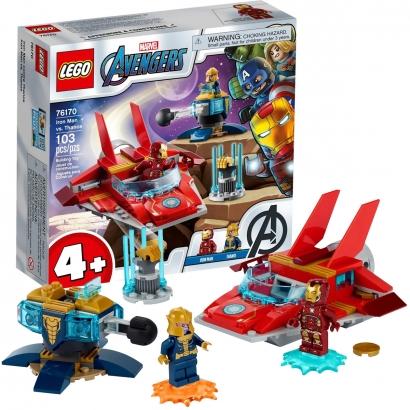 Brinquedo Lego Avengers Criança Com 103 Peças +4 Anos Marvel Homem de Ferro vs Thanos Disney