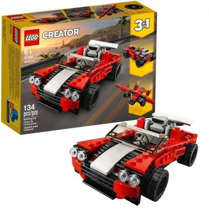 Brinquedo Lego Carro Esportivo 3 em 1 +6 Anos 134 Peças Vira Avião Creator