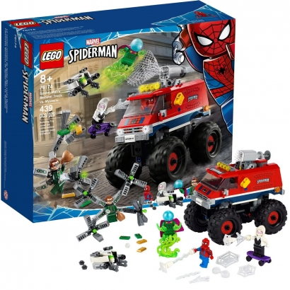 Brinquedo LEGO Homem Aranha Mysterio Doutor Octopus Gwen Aranha Caminhão Monstro +8 Anos 439 Peças