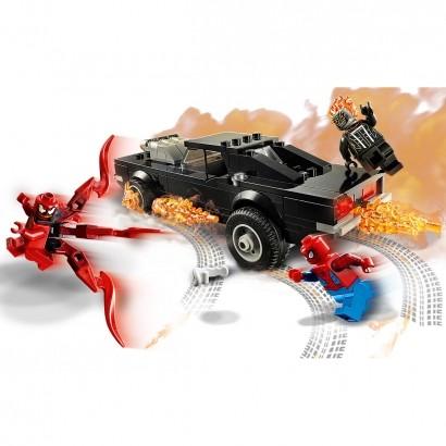 Brinquedo LEGO Homem Aranha Spider Man And Ghost Rider VS Carnage +7 Anos 212 Peças Blocos de Montar