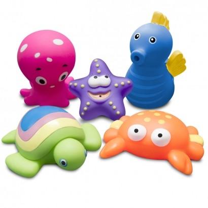 Brinquedo Para Banho Bebê Infantil Animais Marinhos Acima dos 9 Meses Comtac Kids Care