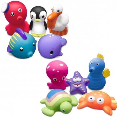 Brinquedo Para Banho Bebê Infantil Fundo do Mar Acima dos 9 Meses Comtac Kids Care