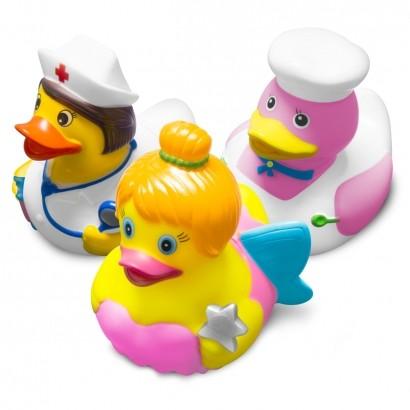 Brinquedo Para Banho Bebê Infantil Pato Patinhos Acima dos 9 Meses Comtac Kids Care