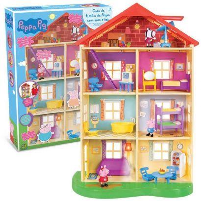 Nova Casa Da Família Peppa Pig 4 Andares Com Luz E Som Dtc 4207