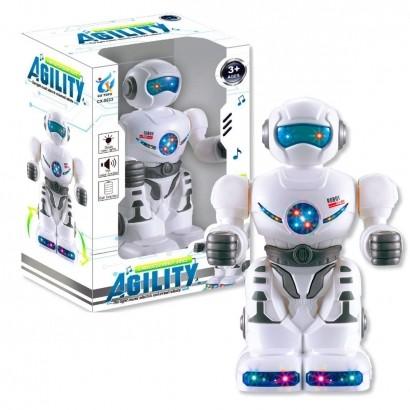 Brinquedo Robo Infantil Criança Musical Gira Brilha Agility Bate e Volta Polibrinq