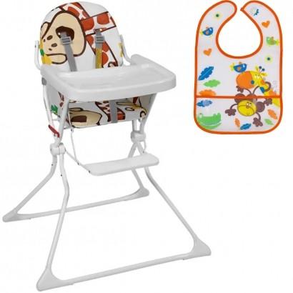 Cadeira Alta De Bebe Para Alimentação Standard II Até 15 Kg Galzerano + Babador Infantil