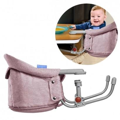 Cadeira De Alimentação Bebê Refeição Encaixe Na Mesa Click Clip Multikids Rosa