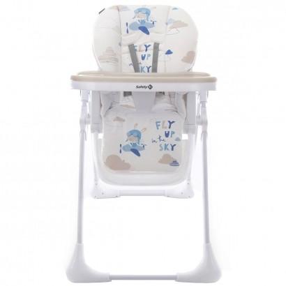 Cadeira de Alimentação Bebê Reclinavel Regulagem de Altura 6 Meses Até 23Kg Infantil Feed Blue Sky Safety 1St