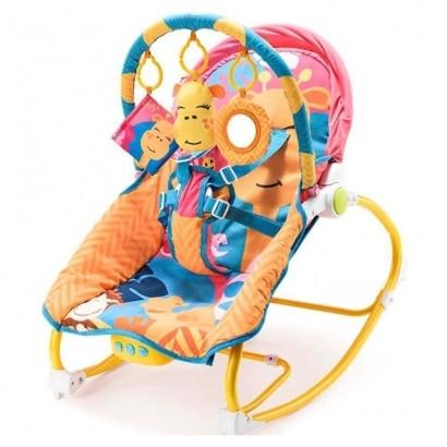Cadeira De Balanço Para Bebês 0-20 Kg Girafa Multikids Baby BB364