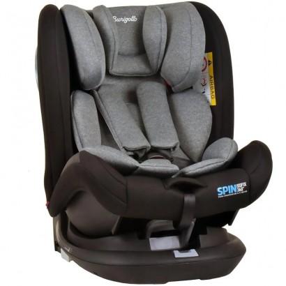 Cadeira de Bebê Para Auto Spin Isofix Cinza De 0 a 36Kg Burigotto