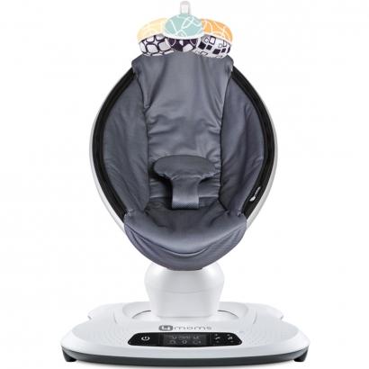 Cadeira de Descanso Bebê Com Musicas 5 Velocidades 5 Movimentos Nascimento Até 6 Meses 12Kg Bluetooth MamaRoo 4.0 Moms Grey Mesh