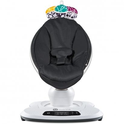 Cadeira de Descanso Bebê Com Musicas 5 Velocidades 5 Movimentos Nascimento Até 6 Meses 12Kg Bluetooth MamaRoo 4.0 Moms Classic Black