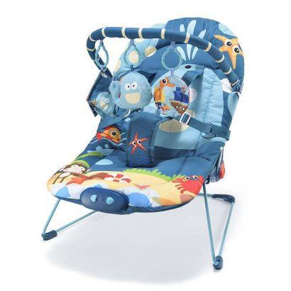 Cadeira De Descanso Para Bebês 0-15 Kg Little Nap Baleia Multikids Baby BB360