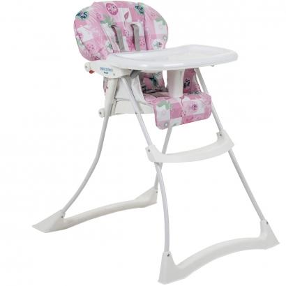 Cadeira de Refeição Alimentação Bebê 0 Até 15 Kg Papa e Soneca Burigotto Rosa