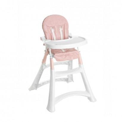 Cadeira de Refeição Bebê Portátil Alimentação 0 Até 15Kg Alta Premium Galzerano Rosa 5070RO