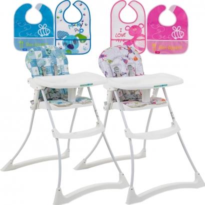Cadeira de Refeição Bebê Appetit Xl-Peixinho + Babador Infantil