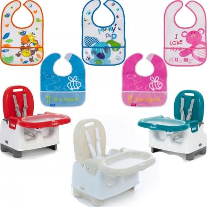 Cadeira de Refeiçao Infantil Bebê Mila + Babador Infantil