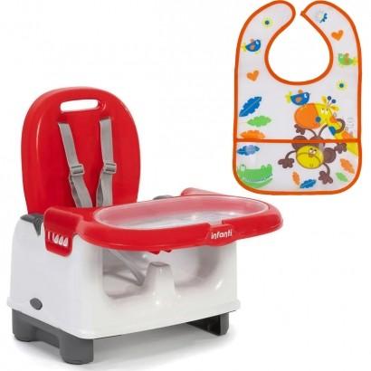 Cadeira de Refeiçao Infantil Bebê Mila + Babador Infantil Galzerano