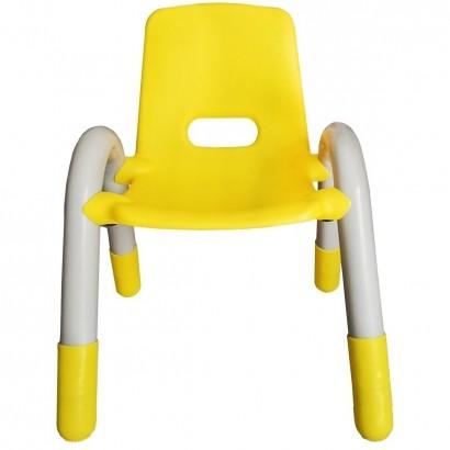 Cadeira Plástica Infantil Recreativa Amarela 56x41x38 cm - Brinqway