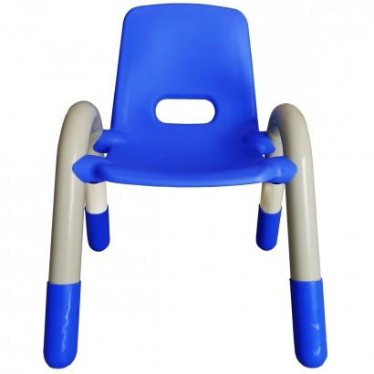 Cadeira Plastica Infantil Recreativa Azul 56x41x38 cm - Brinqway