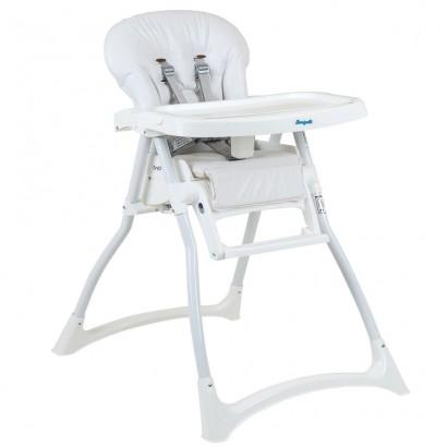 Cadeira de Refeição Bebê 0 Até 15Kg Alimentação Infantil Merenda Branca Burigotto