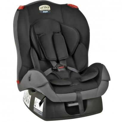Cadeirinha de Bebê Auto Bebê Conforto 0 Até 25kg Grupo 0+, I e II Reclinavel 4 Posições Unike Burigotto Preto e Cinza