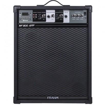 Caixa De Som Amplificada Frahm Mf800 App Bluetooth Usb Sd Fm