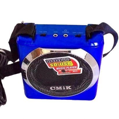 Caixa De Som Portátil 15w Rádio Fm Mp3 Usb Aux Sd Azul