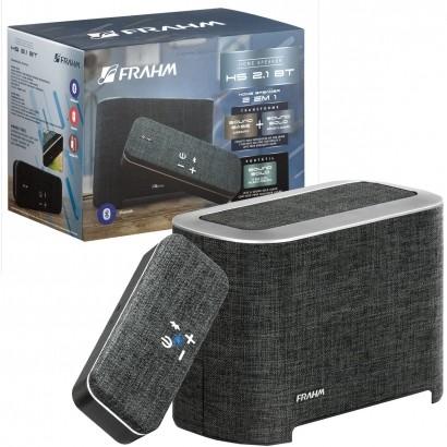 Caixa de Som Portátil com Bluetooth, Entrada P2  - Home Speaker 2.1 Bt Frahm