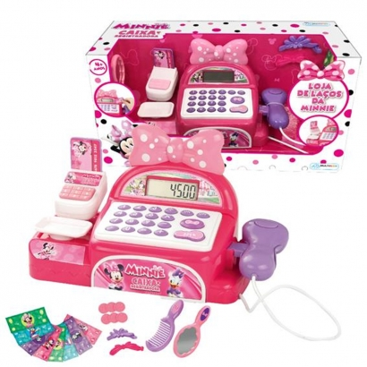 Caixa Registradora Infantil +4 Anos Disney Minnie Brinquedo Criança Multikids