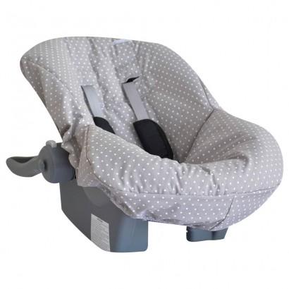Capa de Bebe Conforto Tecido de Estampa de Estrelas Cinza