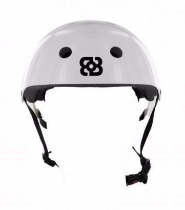Capacete Bob Burnquist Coquinho Branco M Skate Patins Es084