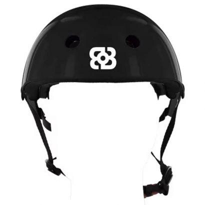 Capacete Bob Burnquist Coquinho Preto G Skate Patins Es083