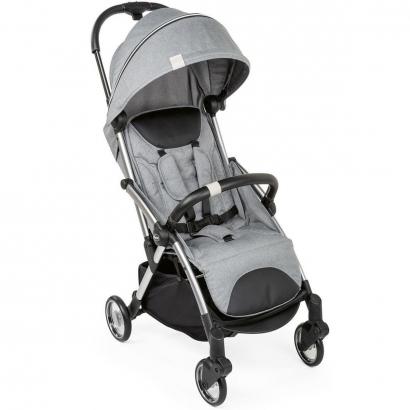 Carrinho Bebê Passeio Compacto Recém Nascido Até 15 Kg One Hand Goody Plus Chicco Cool Grey
