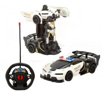 Carrinho Controle Remoto Infantil ChangeBot Carro Robô Bate e Vira +3 Anos Polibrinq