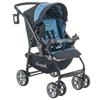 Carrinho de Bebê Burigotto At6 K Reversível Preto e Azul IXCA2055PR06