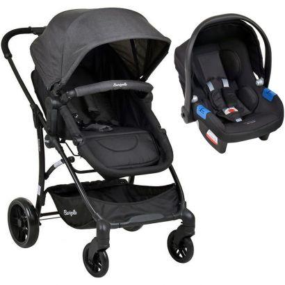 Carrinho de Bebê Convert Até 15Kg Dark Grey + Cadeira Infantil Touring X Até 13Kg Preto Burigotto