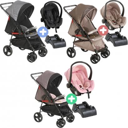 Carrinho de Bebê Galzerano Passeio 2 em 1 Reversivel 0 Até 15 Kg 4 Posições Maranello II Galzerano + Bebê Conforto Cocoon + Base