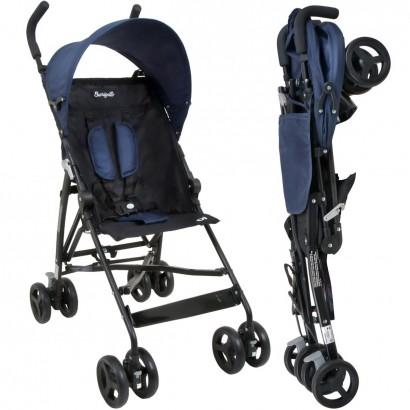 Carrinho de Bebê Guarda-Chuva Burigotto Oi Blue Black A Partir de 6 Meses Até 15Kg