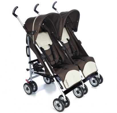Carrinho De Bebê Para Gêmeos Burigotto Duetto Brown Marrom