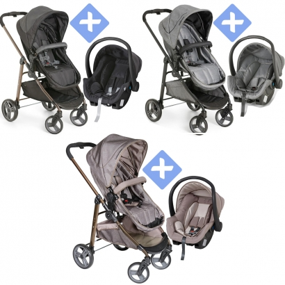 Carrinho de Bebê Passeio 3 em 1 Nascimento Até 15Kg Tavel System Berço Moises Olympus Galzerano + Bebê Conforto Cocoon